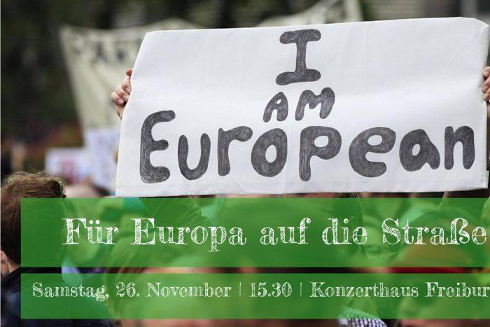 Demonstration: Für Europa Auf Die Straße! | 26.11.16