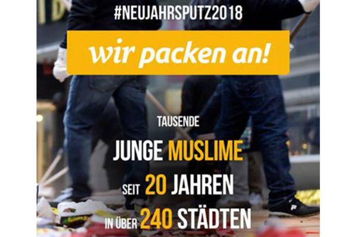 Ahmadiyya Muslim: Neujahrs-Putzaktion | 1.1.2018