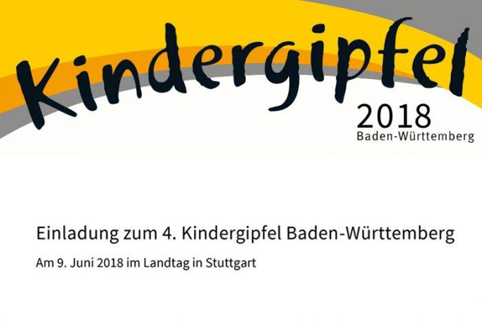 4. Kindergipfel Baden-Württemberg | 09. Juni 2018