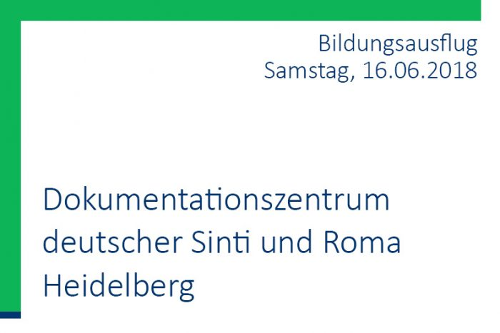 Bildungsausflug JUPP: Dokumentationszentrum Deutscher Sinti Und Roma Heidelberg | 16.06.2018