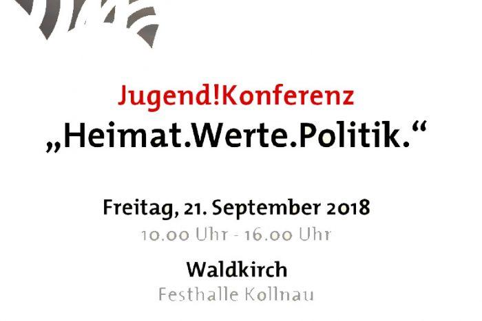 Jugend!Konferenz  HEIMAT.WERTE.POLITIK | 21.09.2018