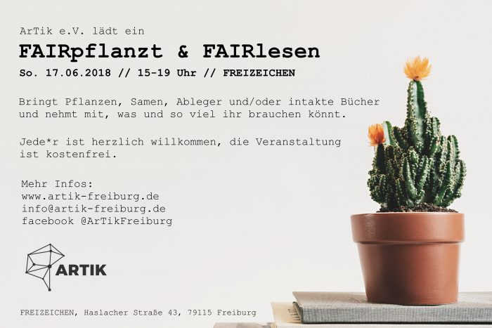 ArTik: FAIRpflanzt & FAIRlesen | 17.06.