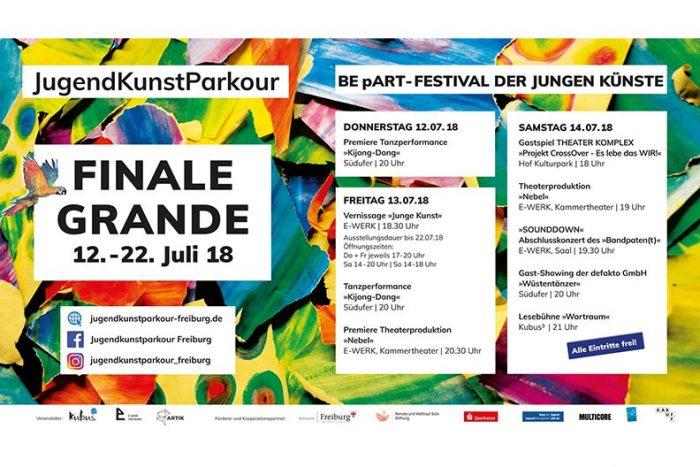 """""""Finale Grande"""" Des Jugendkunstparkour BE PART 12.-22.07.2018"""