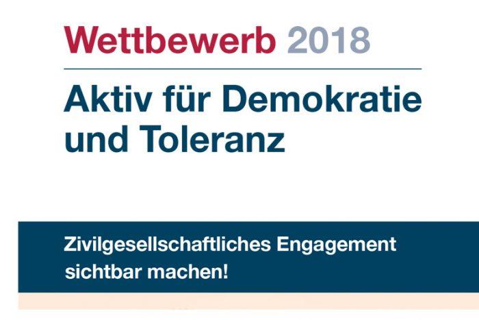 """Wettbewerb """"Aktiv Für Demokratie Und Toleranz"""" 2018"""