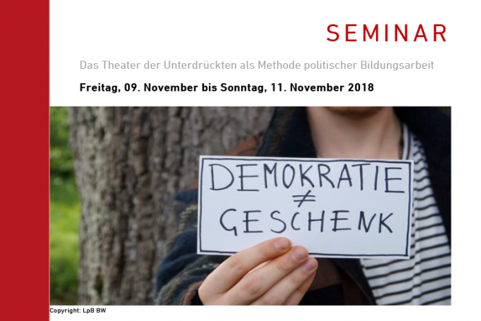 Seminar: Das Theater Der Unterdrückten Als Methode Politischer Bildungsarbeit | 09.-11.11.2018