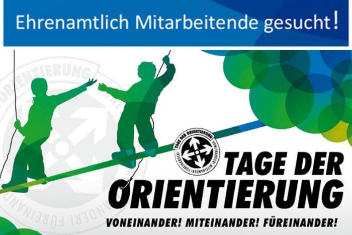 Ehrenamtlich Mitarbeitende Für Die Tage Der Orientierung Gesucht!