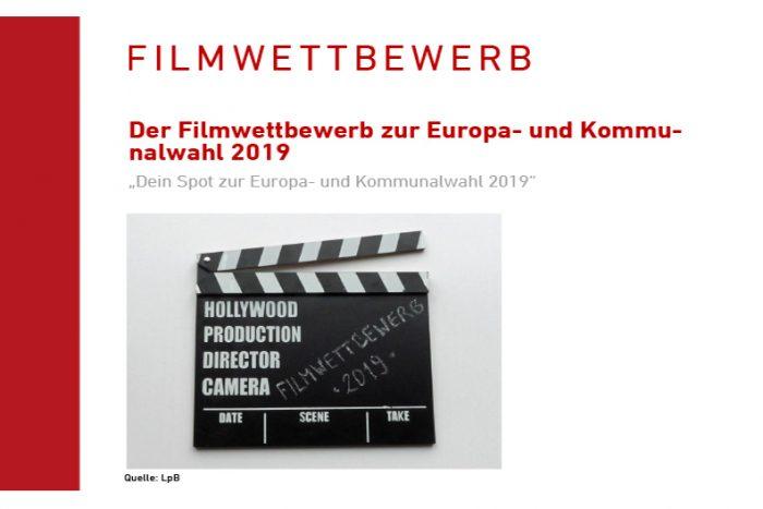 """FILMWETTBEWERB """"Dein Spot Zur Europa- Und Kommunalwahl 2019″"""