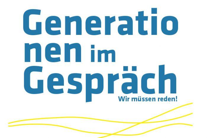 Generationen Im Gespräch Plakat Weiss