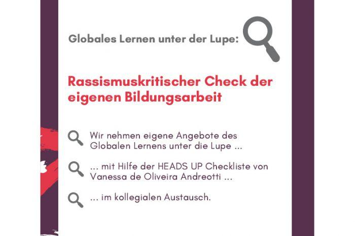 Rassismuskritischer Check Der Eigenen Bildungsarbeit | 25. Oktober 2019