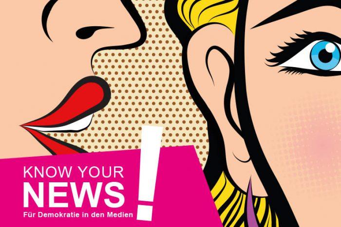 """Medienwettbewerb: """"KNOW YOUR NEWS"""" Für Demokratie In Den Medien"""